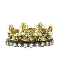 Armenta - Blue Half Crown Ring - Lyst