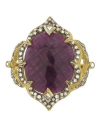 Cathy Waterman | Purple Arabesque Ruby Ring | Lyst