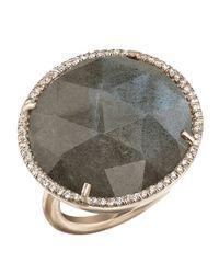 Irene Neuwirth | Metallic Rose Cut Labradorite Ring | Lyst