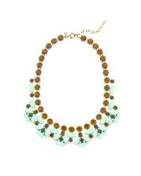J.Crew - Green Mint Stone Necklace - Lyst