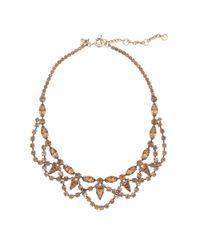 J.Crew | Purple Lace Stone Necklace | Lyst