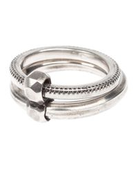 Werkstatt:münchen | Metallic Double Band Ring for Men | Lyst