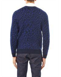 Acne - Black Clissold Animal Print Crew Neck Sweater - Lyst