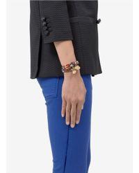 Alexander McQueen - Multicolor Snake-effect Leather Wrap Bracelet - Lyst