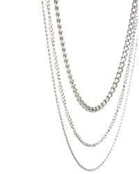 ASOS - Metallic Gathered Necklace for Men - Lyst