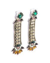 DANNIJO | Green Catalina Embellished Earrings | Lyst