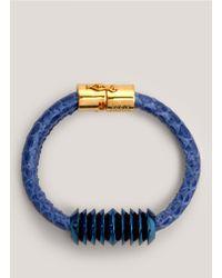 Eddie Borgo - Blue Scaled Bracelet - Lyst