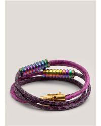 Eddie Borgo | Purple Scaled Wrap Bracelet | Lyst