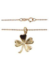 Jennifer Meyer - Metallic Rose Gold & Diamond Good Luck Charm Pendant Necklace - Lyst