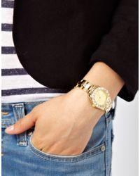 River Island - Metallic Gold Bling Sarika Watch - Lyst
