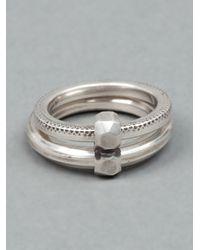 Werkstatt:münchen - Metallic Double Band Ring for Men - Lyst