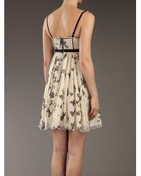 Dolce & Gabbana | Natural Printed Silk Dress | Lyst