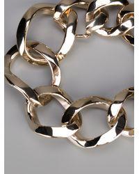 Givenchy - Metallic Chunky Curb Chain Bracelet - Lyst
