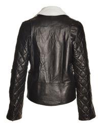 J.W.Anderson - Asymmetric Black Leather Biker Jacket  - Lyst