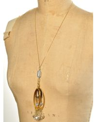 Kirsty Ward | Metallic Alu Loops Crystals Gold Chain Pendant By | Lyst