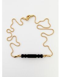 Lily Kamper - Metallic Small Pillar Necklace By - Lyst