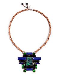Moutoncollet | Green Juliet Necklace in Emerald | Lyst