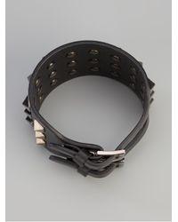 Valentino - Black Rockstud Leather Cuff - Lyst