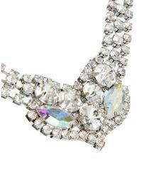 ASOS - Metallic Rhinestone Collar Necklace - Lyst