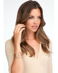 Bebe - Metallic Love Rhinestone Bracelet Set - Lyst
