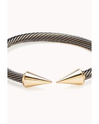 Forever 21 | Metallic Twisted Spike Cuff | Lyst