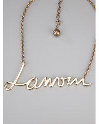 Lanvin | Metallic Natu Long Tassel Necklace | Lyst