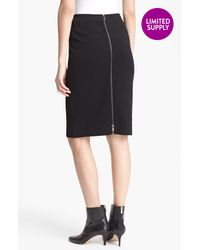 Lida Baday   Black Zip Back Pencil Skirt   Lyst
