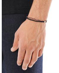 Luis Morais | Black Glass Bead Star Charm Bracelet for Men | Lyst