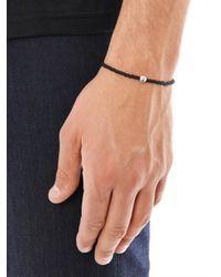 Luis Morais - Black Glass Bead And Silver-tone Bracelet for Men - Lyst