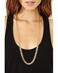 Nasty Gal - Metallic Down Low Chain Necklace - Lyst