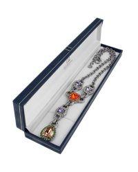AZ Collection - Multicolor Purple  Orange Drop Necklace - Lyst