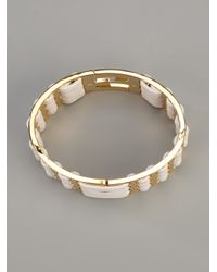 Fendi - Metallic Logo Lattice Bracelet - Lyst