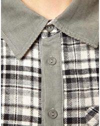 Glamorous   Blue Flannel Shirt   Lyst