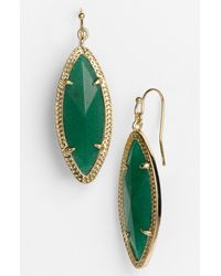 Kendra Scott | Green Dora Stone Drop Earrings | Lyst