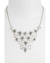 Lois Hill | Metallic Granulated Bib Necklace | Lyst