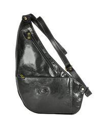 Robe Di Firenze   Black Flat Sling Leather Backpack   Lyst