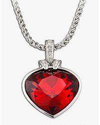 Swarovski - Metallic Oceanic Light Siam Heart Necklace - Lyst