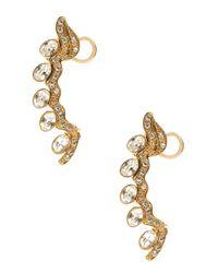 Sophie Bille Brahe | Metallic Small Diamond Croissant Earring | Lyst