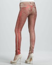 Lyst True Religion Halle Red Metallic Legging Jeans In