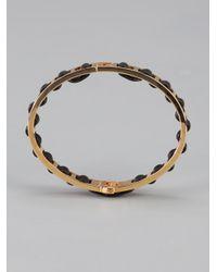 Fendi - Metallic Leather Wound Bracelet - Lyst