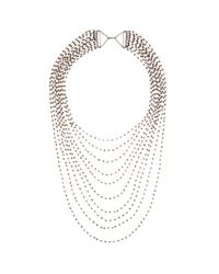 Iam By Ileana Makri - Metallic Multi-Strand Crystal Necklace - Lyst