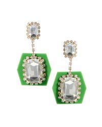 ASOS - Multicolor Perspex Drop Earrings - Lyst