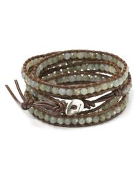 Chan Luu | Metallic Semiprecious Stone-embellished Leather Wrap Bracelet | Lyst