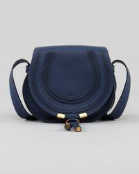 Chloé | Blue Calfskin Marcie Mini Crossbody Bag | Lyst