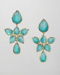 Elizabeth Showers | Blue 18k Gold Amazonite Drop Earrings | Lyst