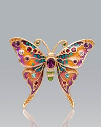 Jay Strongwater | Multicolor Arlyn Grand Butterfly Pin | Lyst