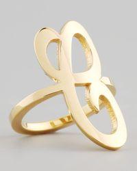 Jennifer Zeuner - Metallic Gold Single Initial Ring - Lyst