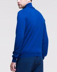 Jil Sander - Cashmere Mockneck Sweater Blue for Men - Lyst