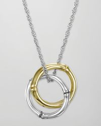 John Hardy - Metallic Bamboo Interlinking Pendant Necklace - Lyst