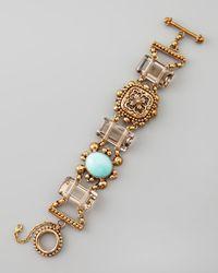 Stephen Dweck | Metallic Turquoise Smoky Quartz Bracelet | Lyst